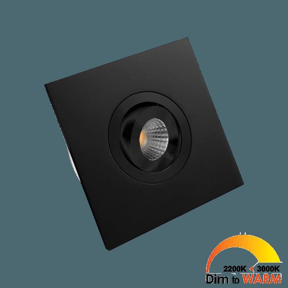 Monza vierkant zwart Dim to Warm